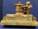 Calimara pentru birou din marmura si bronz