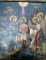 Icoana cu fata dubla Sf. Arhangheli, verso Botezul Domnului, semnata Stelian P. Ghimpati