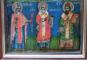 Icoana Romaneasca pe lemn, pictata pe ambele fete, Sec. XVIII