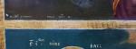 """Icoană pe lemn, în două registre, """"Maica Domnului cu Pruncul, Sfântul Nicolae și Sfântul Ioan Botezătorul"""", zugrav Teodor, școală românească, 19 mai 1848"""