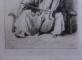 MUSICIEN TSIGANE (HONGRIE) / MUZICANT TIGAN (UNGARIA) - GRAVURA ORIGINALA DE THEODORE VALERIO
