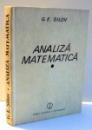 ANALIZA MATEMATICA de G. E. SILOV , 1989
