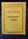 Banca Nationala a Romaniei, Legitimatie