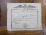 Bilet de exportatia productelor din cele magaziate la Braila, 1847