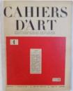 CAHIERS D 'ART  - REVUE D' ART PARAISSANT DIX FOIS PAR AN  - QUATRIEME ANNEE  , No . 1 , 1929