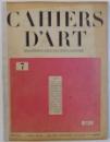 CAHIERS D 'ART , TROISIEME  ANNEE , No 7 , 1928