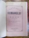 Calendarul Romanului pe anul 1866 eidtat de C. A. Rosetti, Bucuresti 1866