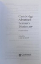 CAMBRIDGE ADVANCED LEARNER ' S DIDCTIONARY  - FOURTH EDITION  WITH CD - ROM , edited by COLIN McINTOSH, 2013