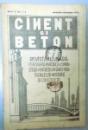 CIMENT SI BETON , REVISTA LUNARA , ANUL III , NR. 1-2 , IANUARIE-FEBRUARIE 1935