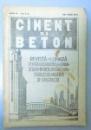 CIMENT SI BETON , REVISTA LUNARA , ANUL III , NR. 5-6 , MAI-IUNIE 1935