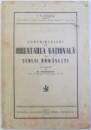 CONTRIBUTIUNI LA ORIENTAREA NATIONALA A SCOLII ROMANESTI de I. V. GORAS , 1937