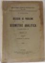 CULEGERE DE PROBLEME DE GEOMETRIE ANALITICA , PARTEA I ED. a - III - a de G. TITEICA , 1939