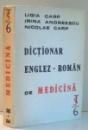 DICTIONAR ENGLEZ-ROMAN DE MEDICINA de LIGIA CARP, IRINA ANDREESCU, NICOLAE CARP , 1992