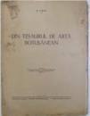DIN TESAURUL DE ARTA BOTOSANEAN de N. IORGA , 1939