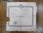 Diploma de bacalaureat, Carol I, Botosani 1882