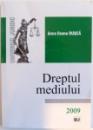 DREPTUL MEDIULUI , 2009