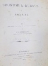 ECONOMIA RURALA DE P.S. AURELIAN , BUCURESTI 1878