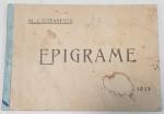 EPIGRAME de AL. I. GORANESCU - BUCURESTI 1933