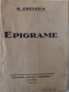 EPIGRAME de N. CREVEDIA , 1930, DEDICATIE*