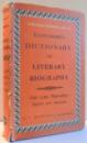 EVERYMAN' S DICTIONARY OF LITERARY BIOGRAPHY , ENGLISH & AMERICAN de JOHN W. COUSIN , 1965