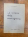F. T. Marinetti La techica della nuova poesia, 1937