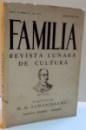 FAMILIA REVISTA LUNARA DE CULTURA , ANUL 76 , SERIA IV , NR. 4-5 , APRILIE - MAI 1941
