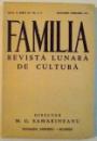 FAMILIA , REVISTA LUNARA DE CULTURA , IANUARIE - FEBRUARIE 1943