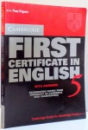 FIRST CERTIFICATE IN ENGLISH , 2001