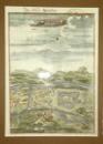 Gravura colorata Oradea, 1686