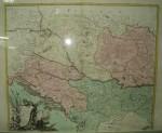 Harta Regatul Ungariei, Transilvaniei, Croatia si Bosnia, 1772