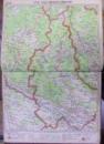 HARTA ROMANIEI COMPUSA DIN 40 PLANSE de M.D. MOLDOVEANU (1946)