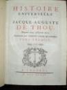 Histoire universelle de Jacque Auguste de Thou, Tom I, Londres 1734