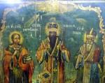 Icoana Sf. Pantelimon. Vasile, Spiridon