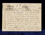 ION MINULESCU  CARTE POSTALA CATRE PREOTUL IOAN GEORGESCU, 27 APRILIE 1915