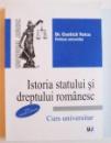 ISTORIA STATULUI SI DREPTULUI ROMANESC - CURS UNIVERSITAR de COSTICA VOICU , 2012