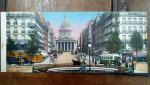 La Rue Soufflot et le Pantheon, Carte postala ilustrata dubla