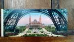 Le Trocadero, vedere de sub Tour Eiffel, Carte postala ilustrata dubla
