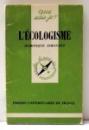 L`ECOLOGISME par DOMINIQUE SIMONNET , 1979