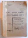 LEGEA ASUPRA CAMBIEI SI BILETULUI LA ORDIN  de A. ZALMAN , 1934