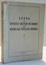 LEGEA SI STATUTELE CULTELOR RELIGIOASE DIN REPUBLICA POPULARA ROMANA , 1951