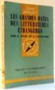 LES GRANDES DATES DES LITTERATURES ETRANGERES de GONTHIER WEIL , JEAN CHASSARD , 1969