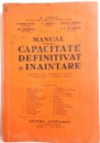 MANUAL PENTRU CAPACITATE DEFINITIVAT SI INAINTARE de B. JORDAN...V.C. MUNTEANU