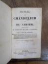 Manuel du Chandelier et du Cirier, Paris 1827