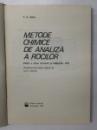 METODE CHIMICE DE ANALIZA A ROCILOR de P.G. JEFFERY , 1983