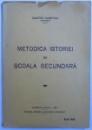 METODICA ISTORIEI  IN SCOALA SECUNDARA de DUMITRU GUSETOIU, 1937 , DEDICATIE*