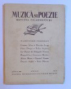MUZICA SI POEZIE - REVISTA FILARMONICEI - ANUL I , 1936 -  APRILIE ,-  NO. 6