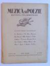 MUZICA SI POEZIE - REVISTA FILARMONICEI - ANUL I , 1936 -  IULIE - AUGUST ,  NO. 9 -10