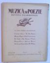 MUZICA SI POEZIE - REVISTA FILARMONICEI - ANUL I , 1936 -  MAI ,-  NO. 7