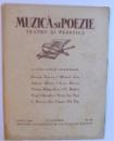 MUZICA SI POEZIE - TEATRU SI PLASTICA  - ANUL I , 1936 -  OCTOMBRIE ,  NO. 12