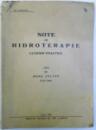 NOTE DE HIDROTERAPIE - LUCRARI PRACTICE LUATE de MERA ZOLTAN , 1935